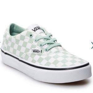 Girls Vans Doheny Green Checker Skate Shoes